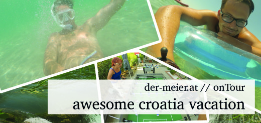 YouTube Thumbnail Urlaub Kroatien // awesome vacation // michael mike meiner aus Stockerau